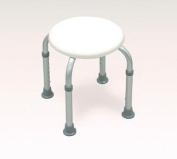 ROUND STOOL Bath Bench Adjustable Height, Lightweight Shower Bench with Non-slip Seat, White