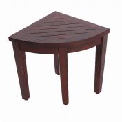 Oasis Bathroom Teak Corner Shower Seat Stool Chair Bench- Sitting, Storage, or Foot Rest