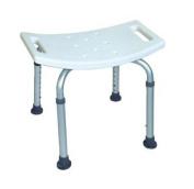 Bath Bench Adjustable Height, Lightweight Shower Bench with Non-slip Seat, White