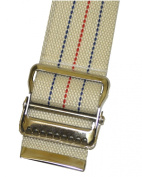 MABUA Physical Therapy Gait Belt with Metal Buckle - Beige 150cm . Also available in Beige 180cm , Black 150cm , and Beige Loop Handles 150cm .
