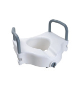 Secure® Elevated Toilet Seat With Padded Removable Hand Rails - One Year Warranty