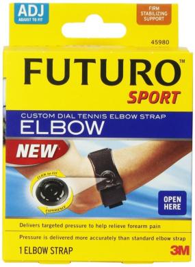 FUTURO Sport Custom Dial Tennis Elbow Strap, Adjustable Model 45980EN, 1 ea