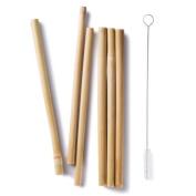 Bambu 056570 Bamboo Straws, Set of 6