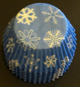 100 Snowflake Print Cupcake Liners Baking Cups STANDARD SIZE