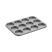 Cake Boss Novelty Nonstick Bakeware 12-Cup Whoopie Pie Pan, Grey