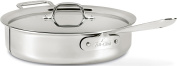 All-Clad 4406 Stainless Steel 3-Ply Bonded Dishwasher Safe 5.7l Saute Pan with Lid Cookware, Silver