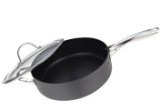 Cooks Standard NC-00346 4.7l Hard Anodize Premium Grade Nonstick with Deep Straight Saute Pan with Cover, 28cm