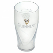 Guinness Logo Pint Glass with Embossed Harp