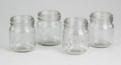 Barbuzzo Mason Jar Shot Glasses, 4-Pack