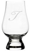 Bix Script Etched Monogram Glencairn Crystal Whisky Glass
