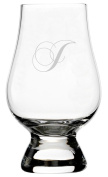 Chopin Script Etched Monogram Glencairn Crystal Whisky Glass