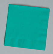 100 gorgeous teal beverage/cocktail napkins for wedding/party/event, 2ply, disposable, 13cm x 13cm , Made in USA