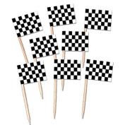 Beistle 60104 50-Pack Chequered Flag Picks, 27cm