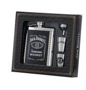 Jack Daniel's 180ml Flask/Shots/Funnel Gift Set