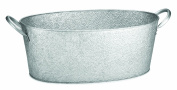TableCraft Oval Beverage Tub Galvanised Pebbled Texture, 23 by 23cm by 20cm