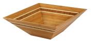 Totally Bamboo Square Inlay Salad Bowl, 30cm