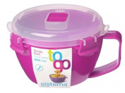Sistema To Go Microwave Noodle Bowl, Pink
