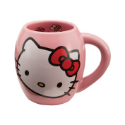 Vandor 18062 Hello Kitty Ceramic Mug, Pink, 530ml
