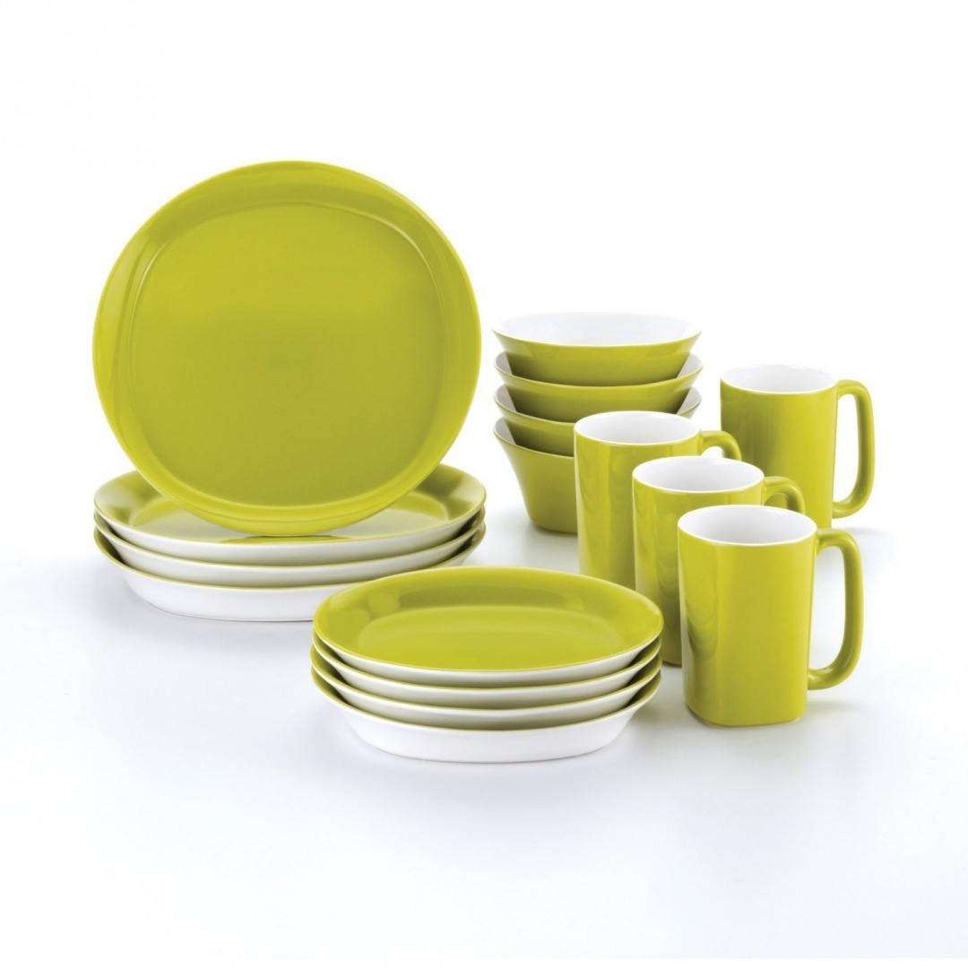 Rachael Ray Dinnerware Round and Square 16-Piece Dinnerware Set Green by Rachael Ray - Shop Online for Kitchen in Australia  sc 1 st  Fishpond & Rachael Ray Dinnerware Round and Square 16-Piece Dinnerware Set ...