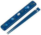 Japanese Rabbit Blossom Chopstick and Case Blue