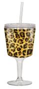 Spoontiques Leopard Print Goblet, Yellow