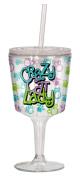 Spoontiques Crazy Cat Lady Goblet, Multi Coloured