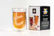 Dilmah, t-Series, Double Walled tea Glass, Holiday Gift idea, Perfect for Hot or Iced Tea, 230ml