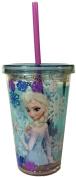 Disney Frozen Tumbler with Straw - Elsa