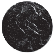 CounterArt Lazy Susan Glass Serving Plate, Black