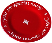Waechtersbach Plate, You Are Special Today, Cherry Red