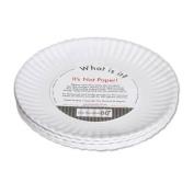 """What Is It."" Reusable ""Paper"" Dinner Plate, 23cm Melamine, Set of 4"