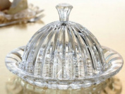 Crystal Clear Alexandria Cheese Dome/Plates