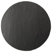 The Just Slate Company Natural Slate Round Cheese Board, 30cm Diameter