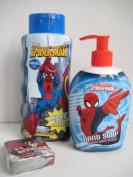 Marvel Spider-man Spider Sense Body Wash 350ml + Spider-man Pump Hand Soap 240ml + Bonus Washcloth