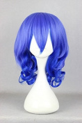 Sunny-business Anime Long Blue Curly Dance of Cosplay Wig