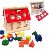 TPT Kid Wooden Digital House Building Blocks Educational Intellectual Toy