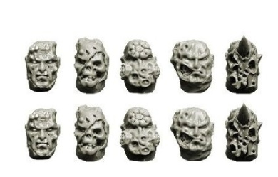 Spellcrow Space Knights: Chaos Spellcrow Space Knights Heads