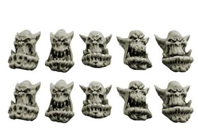Spellcrow Orcs: Bulky Spellcrow Orcs Heads