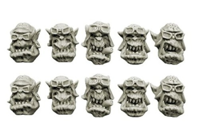 Spellcrow Orcs: Orks Storm Flying Squadron Heads (Ver. 2)