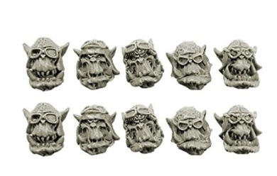 Spellcrow Orcs: Storm Flying Squadron Heads (Ver. 1)