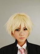 Taobao Building Axis Powers Hetalia APH - England Arthur Kirkland Blond Short Layered Cosplay Costume Wig Party wigs