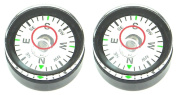 2 x 20mm x 11.8mm Compass / Disc Bubble Spirit Level Round Circular Circle Desmond