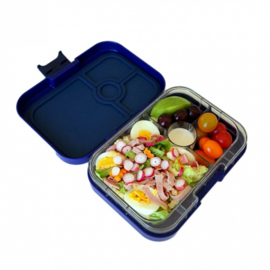 yumbox leakproof bento lunch box container tutti frutti blue for kids and adults by yumbox. Black Bedroom Furniture Sets. Home Design Ideas