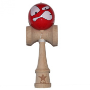 Super Kendama With Red Sour Face Ball And Extra String