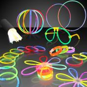 100 20cm Premium Glow Stick Bracelets Party Pack