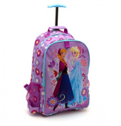 Disney Store Frozen Elsa/Anna Rolling Luggage Backpack