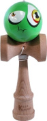 Kaleb Kendama With Green Sour Face Ball And Extra String
