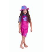 Girls size 4 Sun UV Protective Rashguard Swimsuit swim shirt & shorts SPF+50 Swim Suit for Kids Age 4 Years Old