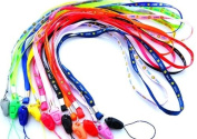 Smiling Face Bundle of 8(long)+3(short)pcs Colourful Neck Strap Band Lanyard for Camera Cell Phone Ipod Mp3 Mp4 USB Flash Drive Id Card Badge and Other Electronic Devices - Smiling Face Assorted Colours