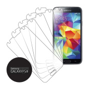 eTECH Collection 5 Pack of Crystal Clear Screen Protectors for for for for for for for for for for for Samsung Galaxy S5 / S V /i9700